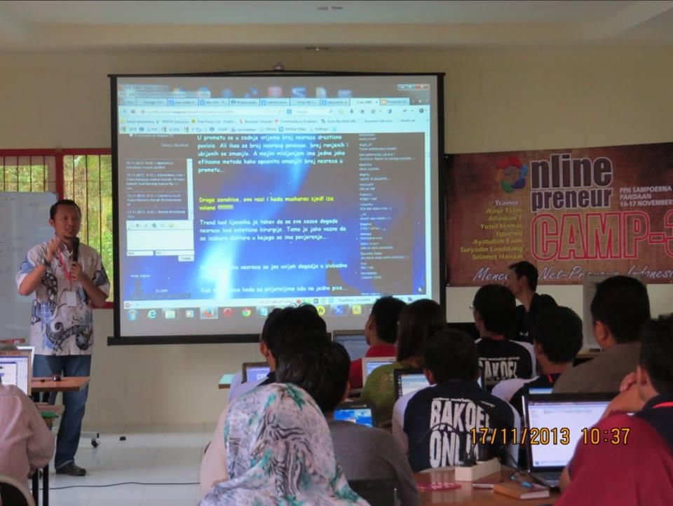 Pembicara Kursus SEO di Malang