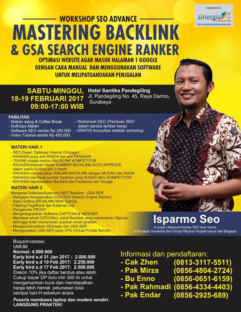 Kursus Pelatihan SEO Surabaya 18-19 Feb 2017